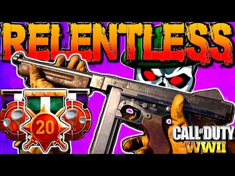 Call Of Duty: WWII Relentless Medal Paratrooper Squad Gameplay! COD WW2 M1928 Tommy Gun Multiplayer!