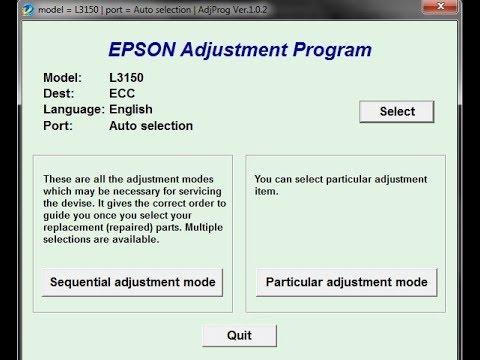 Reset Epson L3110