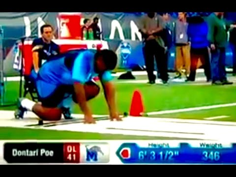 Dontari Poe: 40 Time At 2012 NFL Scouting Combine