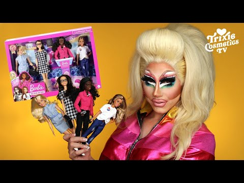 Trixie Unboxes: Barbie Career of the Year Campaign Team - Trixie Mattel