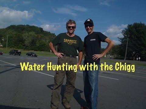 Aquachigger and I find Civil War artillery in the creek together!