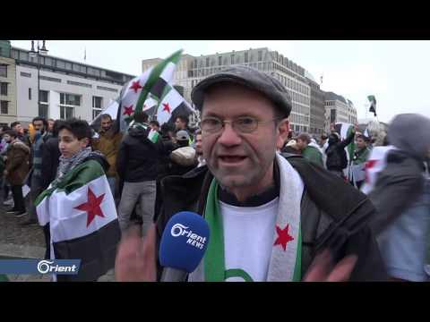 لاجئون سوريون في العاصمة برلين يحيون الذكرى الثامنة للثورة السورية  - 14:52-2019 / 3 / 17