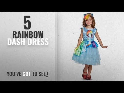 Top 10 Rainbow Dash Dress [2018]: Rainbow Dash Movie Classic Costume, Blue, X-Small (3T-4T)