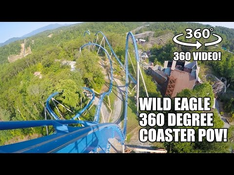 Wild Eagle Roller Coaster 360 Degree POV Dollywood Pigeon Forge, TN - Filmed w/ Giroptic 360