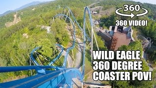Wild Eagle Roller Coaster 360 Degree POV Dollywood Pigeon Forge, TN