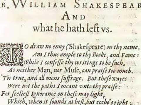 Shakespeare: Ben Jonson