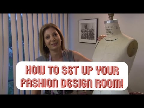 Fashion Unfolded: Fashion Design Room Set Up