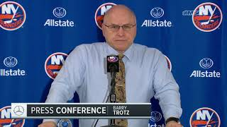 Barry Trotz: It Was a Playoff Atmosphere   New York Islanders Post Game