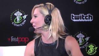 Gigi Edgley Plays the Farscape Video Game - ECCC 2016