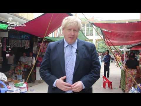 Foreign Secretary Boris Johnson visits Burma