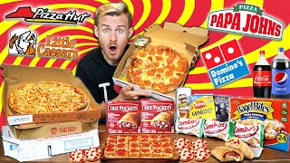THE PIZZA OVERLOAD CHALLENGE! (15,000+ CALORIES)