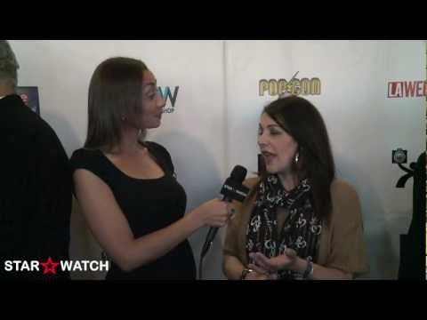 Marina Sirtis red carpet interview at 2012 ITV FEST Awards