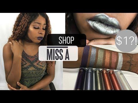 SHOP MISS A   $1 Studio AOA Liquid Lipsticks!   B. Styles