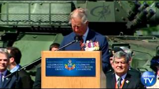 Prince Charles Recalls Military Service During Visit to Canadian Base