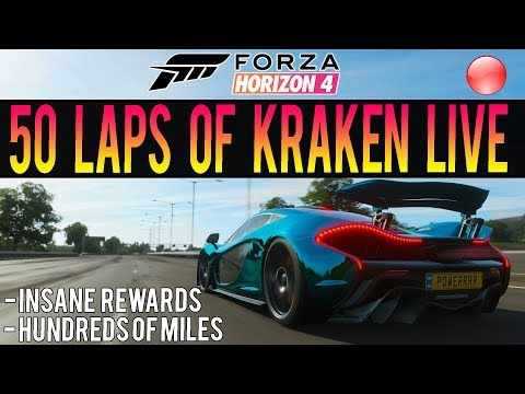 Forza Horizon 4 LIVE - 50 LAPS OF KRAKEN! - HUGE Race + HUGE Rewards