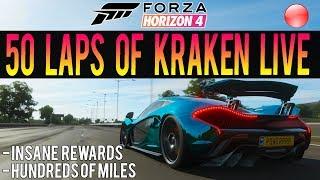 Forza Horizon 4 LIVE - 50 LAPS OF KRAKEN! - HUGE Race + HUGE Rewards