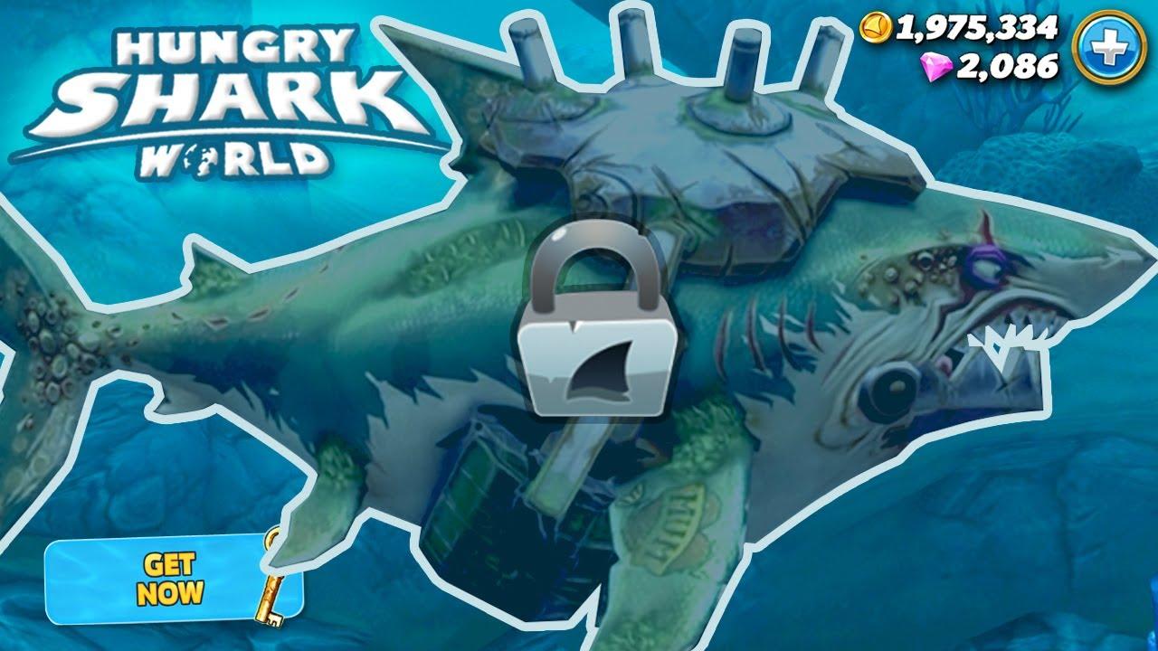 Download New VETERAN GREAT WHITE SHARK Unlocked!!! - Hungry Shark World   HD