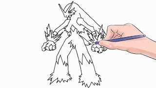 How to Draw The Pokemon Blaziken Easy Step by Step