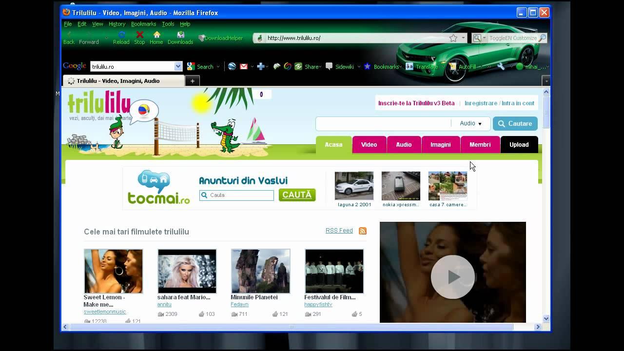 Cum se descarca muzica si video de pe Trilulilu.ro cu softul Trilu.exe - Tutorial