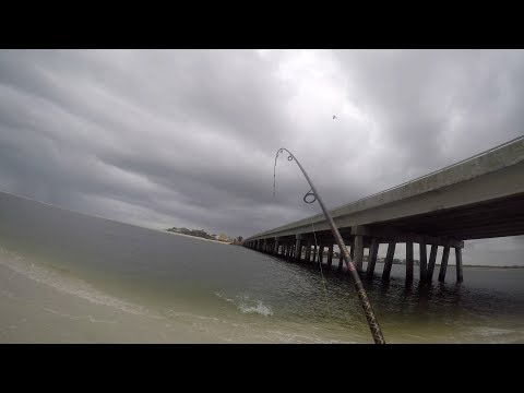 Trout Fishing Before Storm Matanzas Inlet FL.