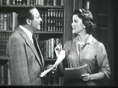 VINTAGE 1956 COMEDY SKIT WITH NANETTE FABRAY GETTING GREAT LAUGHS AT THE EXPENSE OF JACK BENNY