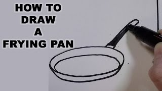 How to Draw a Frying Pan