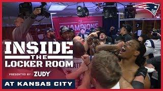 Inside the Locker Room: Patriots celebrate winning AFC Championship
