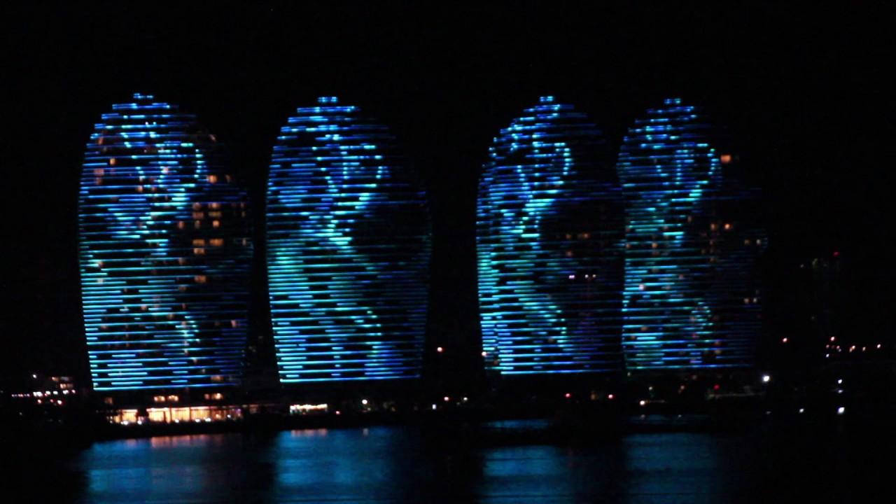 Световое шоу остров Феникс, Хайнань, видео
