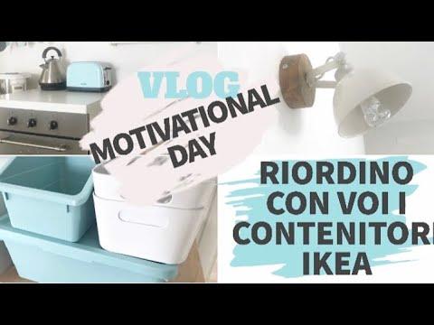 Vlog:Motivational day( riordino con voi i contenitori ikea) e novità in casa