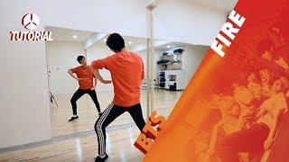 tutorial bts 방탄소년단 fire 불타오르네   dance tutorial by 2ksquad