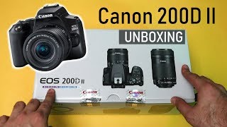 Canon EOS 200D II Unboxing and Overview 4K Video Eye AF Hindi