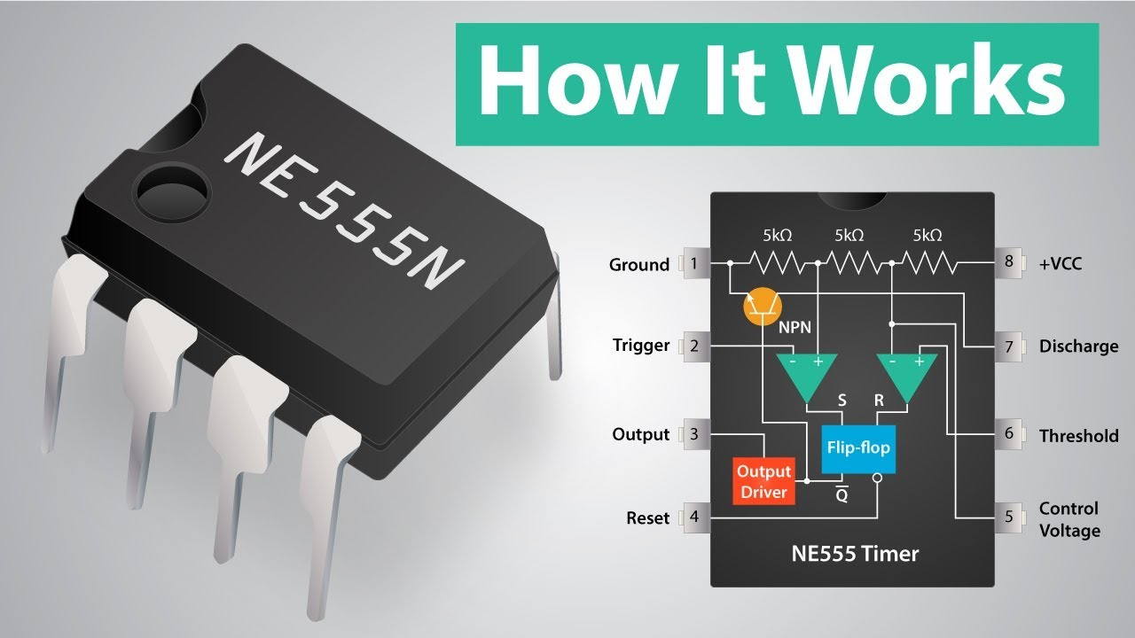 How a 555 Timer IC Works  YouTube