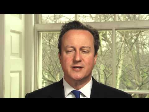 British Prime Minister David Cameron's video message for Israel's Science Day.