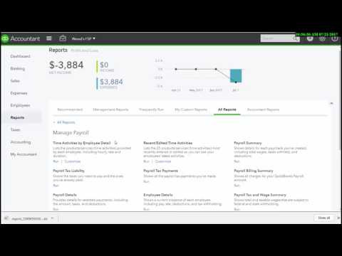 QuickBooks Online Full Service Payroll Report Navigation