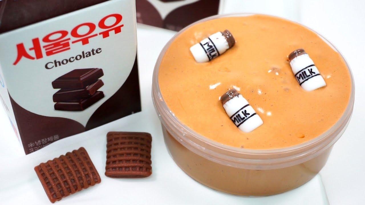 천사 점토로 초코 우유 슬라임 만들기 DIY How To Make Chocolate Milk Slime