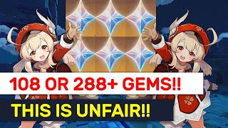 GET 108 Or 288 FREE Primogems! IS This An Unfair Web Event?! | Genshin Impact