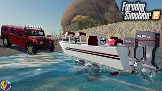 FS19-  BOAT LAUNCH $16,000 FISHING BOAT FARMING SIMULATOR 19
