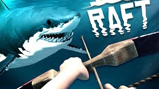 Hunting Sharks Underwater with NEW Bow and Arrow! - Raft Gameplay