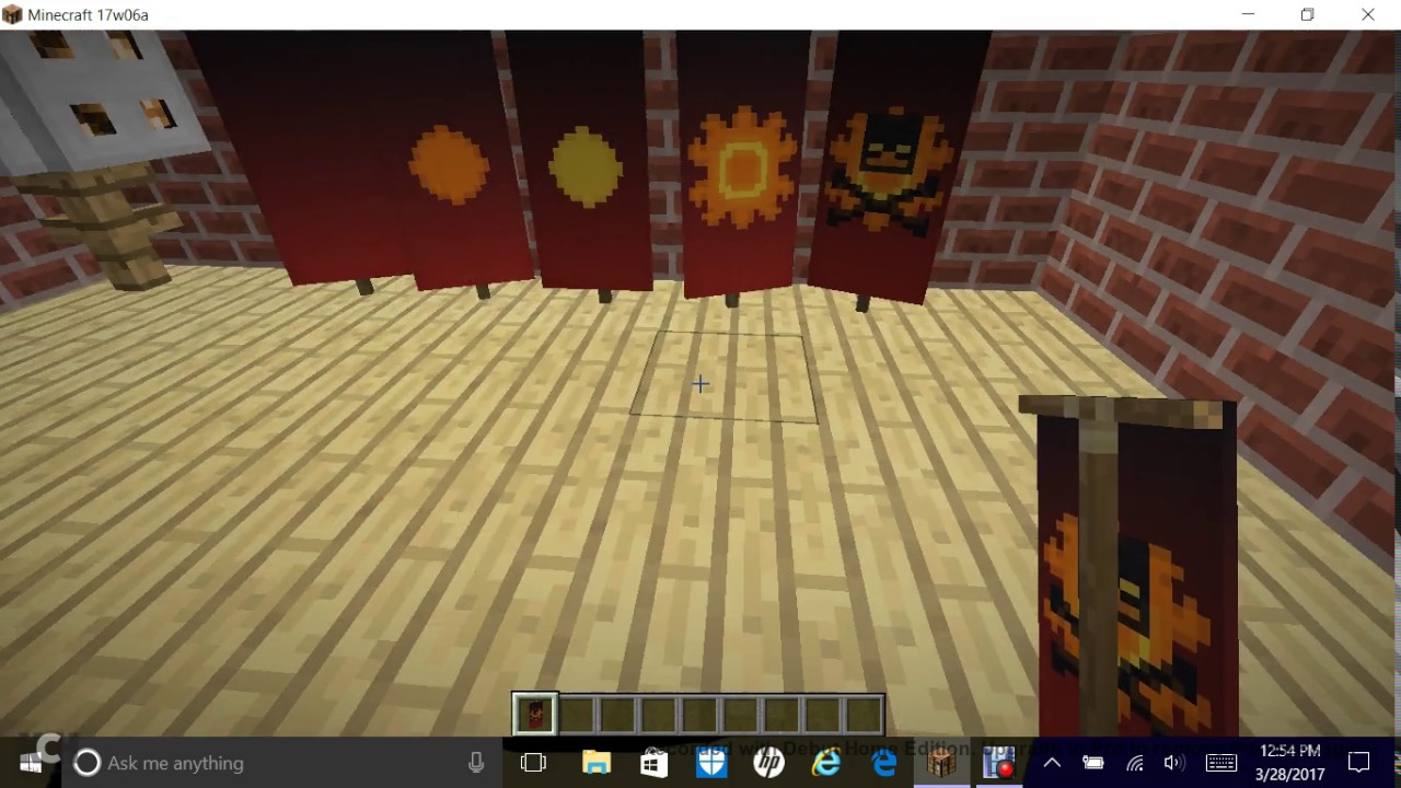 minecraft how to make a skull and crossbones banner