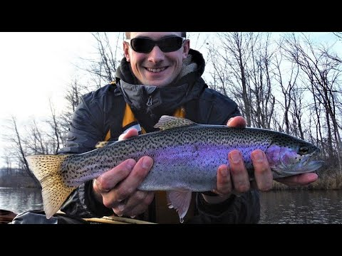 Indiana kayak fishing best of fall trout 2014 youtube for Trout fishing indiana