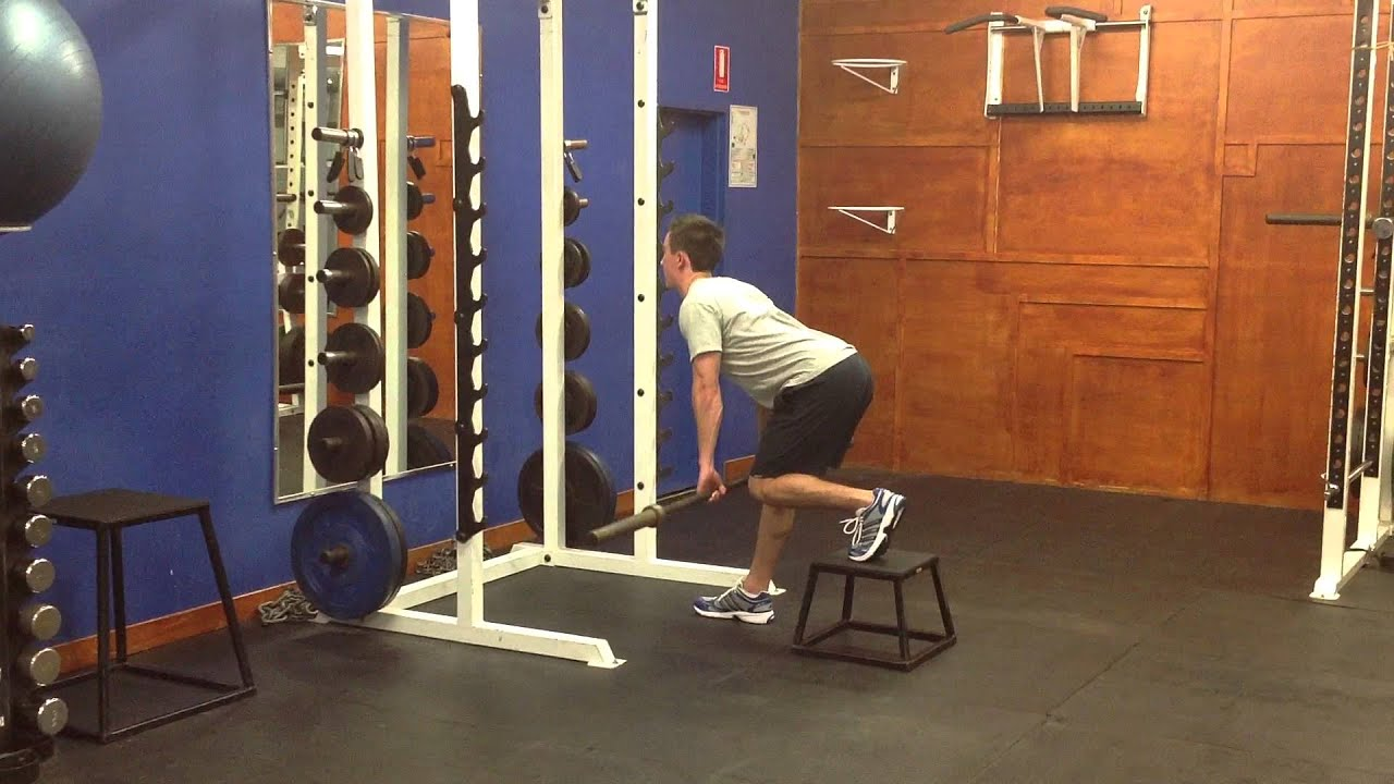 deadlift with barbell The barbell sumo deadlift is essentially the barbell deadlift using a sumo stance, which places less emphases on your lower back and hamstrings.
