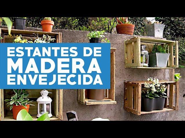 ¿Co?mo hacer estantes de madera envejecida para las plantas?