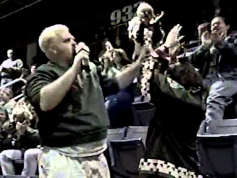 Karaoke Star at Coyotes Hockey Game Circa 2000