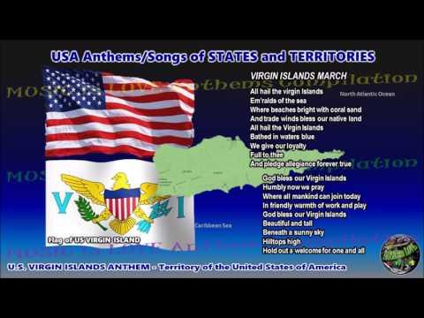 US Virgin Islands Anthem VIRGIN ISLANDS MARCH with music, vocal and lyrics