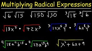 Multiplying Radical Expressions Wİth Variables and Exponents
