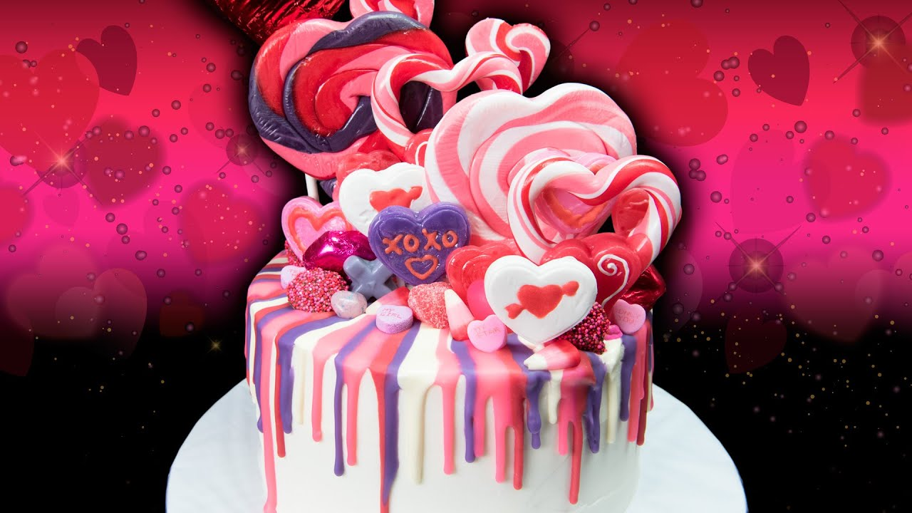 valentine u0027s day rainbow drip candy cake from cookies cupcakes and
