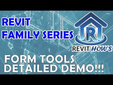REVIT FAMILY SERIES: EXPLAINED in DETAIL!!! FORM TOOLS - BASIC TUTORIAL - FINAL PART thumbnail