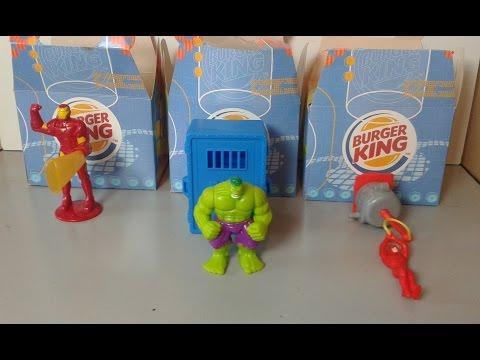 Super heróis Marvel bkids burger king 2005