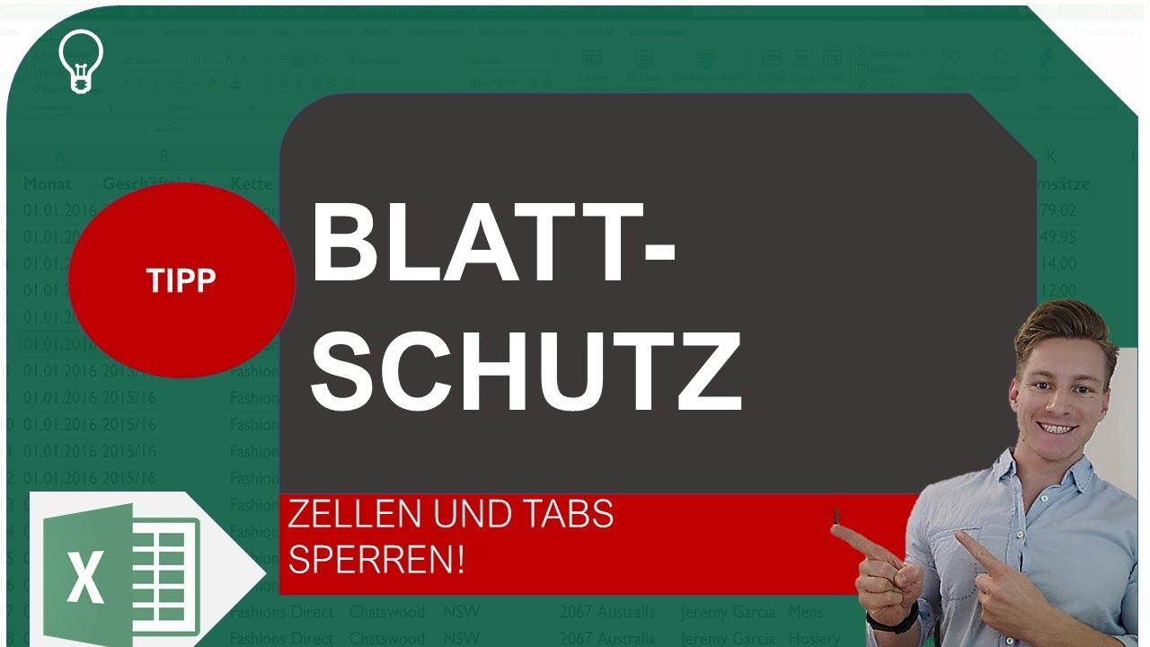Excel Blattschutz - Arbeitsmappe / Zellen / Tabs mit Passwort ...