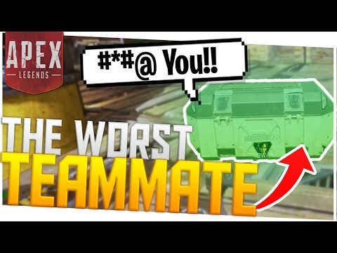 The *WORST* Teammate I've EVER Had (Toxic) - PS4 Pro Apex Legends!